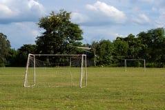 Gammalt fotbollmål Fotografering för Bildbyråer