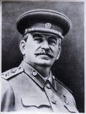 Gammalt foto av Stalin arkivfoto