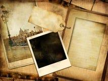 gammalt foto för album Royaltyfri Foto