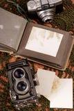 gammalt foto för album Royaltyfria Bilder