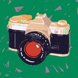 gammalt foto för kamera royaltyfri illustrationer