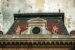 Gammalt foto med fasaden på klassisk byggnad Belgrade Serbien 2 Royaltyfria Bilder