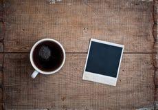 Gammalt foto och kaffe Arkivfoton