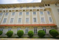Gammalt Franska-stil hotell i Dalat, Vietnam Royaltyfri Foto
