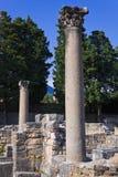 Gammalt fördärvar i Salona, Kroatien Arkivfoto