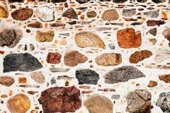 Gammalt göra envist motstånd, komponerade av stora massiva stenkvarter, som abstrakt sömlös texturbakgrund Royaltyfria Bilder