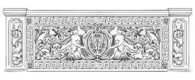 Gammalt galler-flotta för vektor tema Arkivbilder