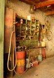 gammalt garage Arkivbilder