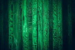 Gammalt grönt tappningträ Mörker - textur och bakgrund för grön tappning wood Abstrakt textur och bakgrund för formgivare gammal  Arkivbild
