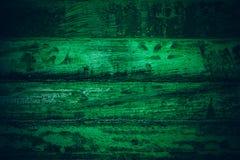 Gammalt grönt tappningträ Mörker - textur och bakgrund för grön tappning wood Abstrakt textur och bakgrund för formgivare gammal  Royaltyfria Foton