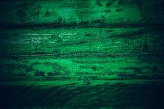 Gammalt grönt tappningträ Mörker - textur och bakgrund för grön tappning wood Abstrakt textur och bakgrund för formgivare gammal  Arkivfoton