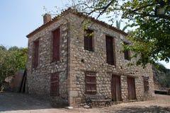 gammalt grekiskt hus Arkivbilder