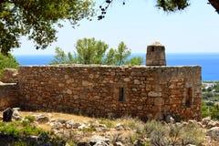 gammalt grekiskt hus Arkivfoto