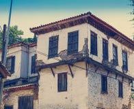 Gammalt grekiskt hus för tappning Royaltyfri Bild