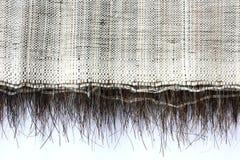 Gammalt grovt textural tyg med tagel Royaltyfri Fotografi