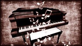 Gammalt Grungy piano Royaltyfria Bilder