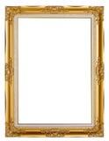 Gammalt guld- inramar Arkivbilder