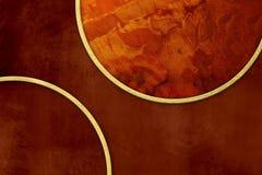 Mörkret - röd bakgrund - grunge texturerar med guld- inramar Royaltyfri Illustrationer