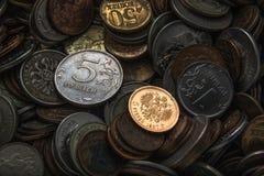 Gammalt guld- mynt Royaltyfri Bild