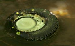 gammalt gummihjul Royaltyfri Bild