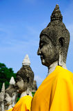 Gammalt hårdna buddistisk skulptur Royaltyfri Bild