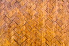 Gammalt handcraft bakgrund för bambuvävtextur Arkivbilder
