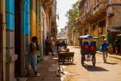 Gammalt Havana City liv arkivbild