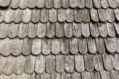 Gammalt historiskt brunt wood tak Arkivbilder