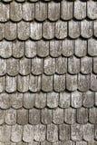 Gammalt historiskt brunt wood tak Arkivfoton