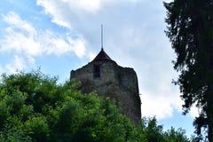 Gammalt historiskt torn Czchow Polen Arkivfoto
