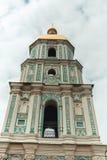 Gammalt historiskt torn för Ñ-hurch i Kiev, Ukraina Loppfoto Arkivbild
