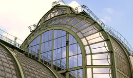 Gammalt historiskt växthus Fotografering för Bildbyråer