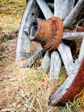 Gammalt hjul arkivfoto