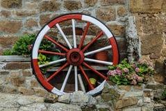 gammalt hjul Fotografering för Bildbyråer