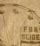 gammalt hjul för ferris royaltyfri fotografi