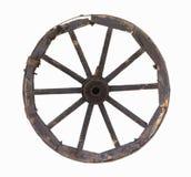 gammalt hjul för vagnsobjekt Fotografering för Bildbyråer