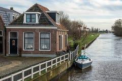 Gammalt holländskt hus Royaltyfri Fotografi