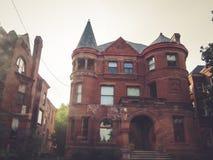 Gammalt hus arkitektoniska Louisville Kentucky royaltyfria bilder