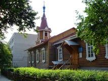 Gammalt hus av den Novosibirsk regionen Fotografering för Bildbyråer