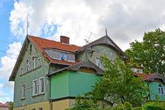 Gammalt hus av den tyska konstruktionen Zelenogradsk Kaliningrad Royaltyfria Foton