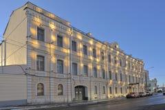 Gammalt hus av det 19th århundradet Pyotr Arsenievich Smirnov Arkivfoton