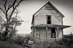Gammalt hus i östliga Oregon fotografering för bildbyråer