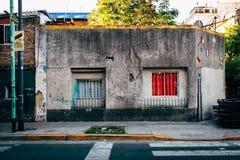Gammalt hus i Boca royaltyfri foto