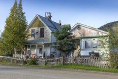Gammalt hus i Dawson Yukon Canada arkivbilder