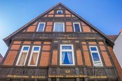Gammalt hus i den historiska mitten av Osnabruck Royaltyfri Bild