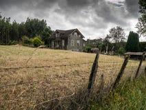 Gammalt hus i Frutillar Arkivfoto