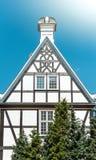 Gammalt hus i gata av Gdansk, Polen, Europa Royaltyfri Bild
