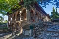 Gammalt hus i Ioannina, Grekland arkivbilder
