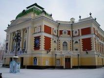 Gammalt hus i Irkutsk, Ryssland Arkivfoto