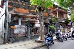 Gammalt hus i Kuta, Bali Arkivfoton